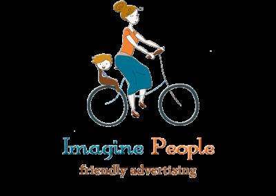 Logo mama merge pe bicicleta cu copilul, logo copii, logo mame, logo activitati in aer liber, logo asociatii si ONG